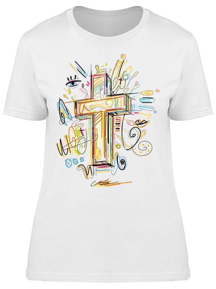 Art Sketchy Crucifix Tee Women's -Image by Shutterstock