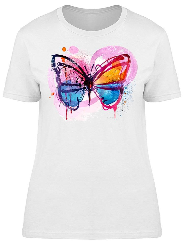 Butterfly Colorful Art Tee Women's -Image by Shutterstock