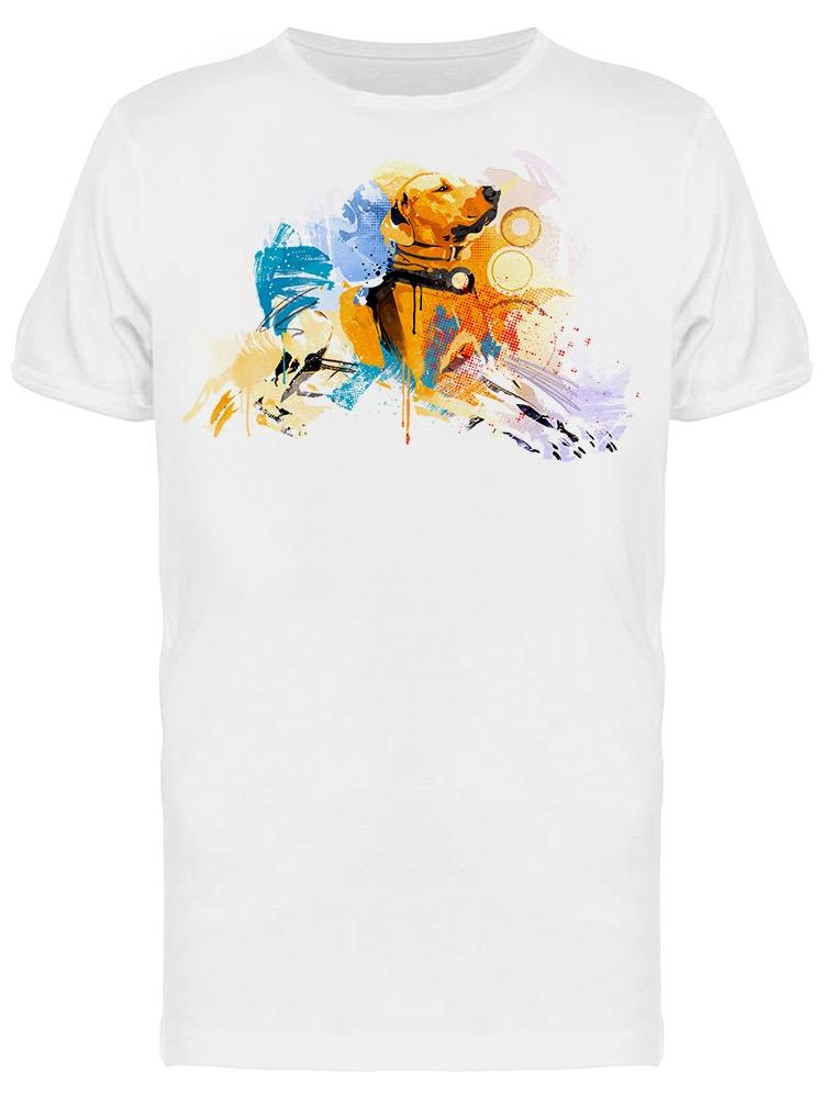Graphic Beach Dog Tee Men's -Image by Shutterstock