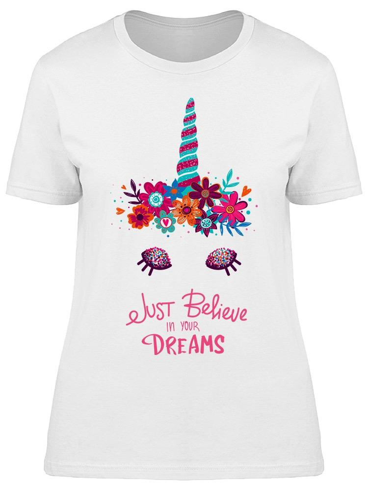 Believe In Dreams Unicorn Tee Women's -Image by Shutterstock