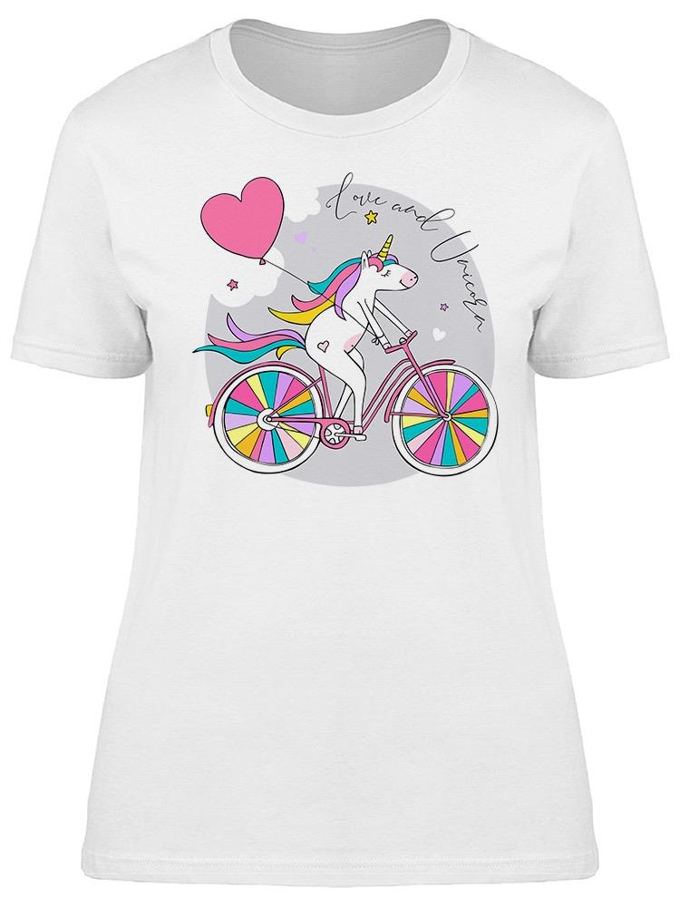 Love And Unicorn Phrase Tee Women's -Image by Shutterstock