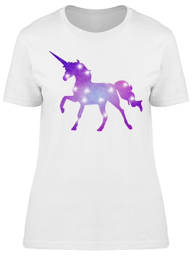 Galaxy Style On Unicorn Shaped Tee Women's -Image by Shutterstock