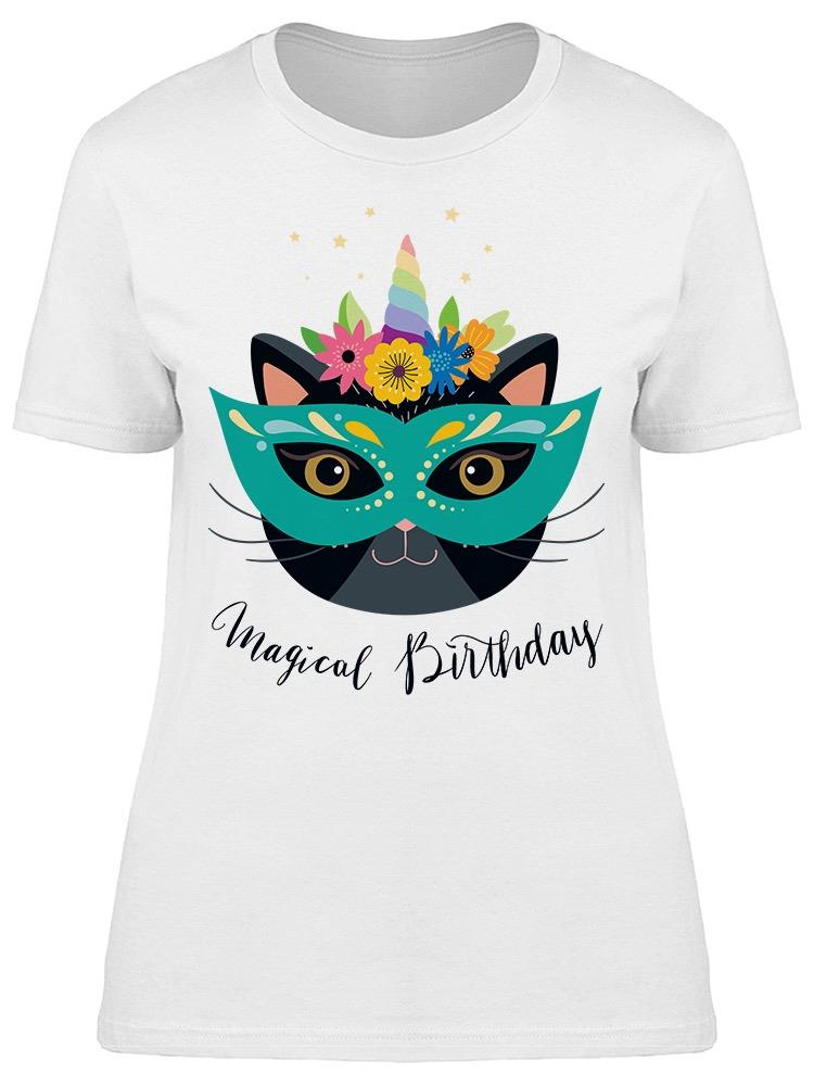 Magical Birthday Cat Carnival Tee Women's -Image by Shutterstock