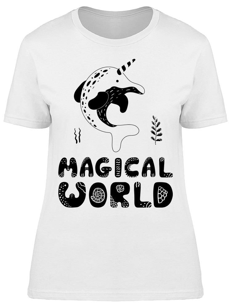 Narwhal Magical World Tee Women's -Image by Shutterstock