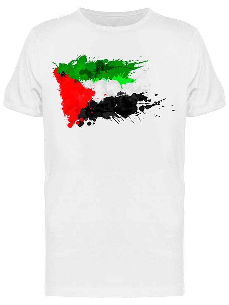 Flag Palestine Splashes Tee Men's -Image by Shutterstock