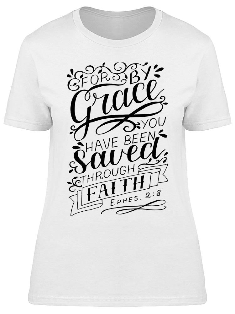 Hand Lettering Have Faith. Tee Women's -Image by Shutterstock