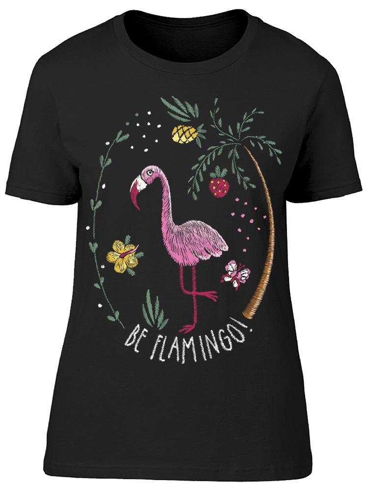 Tropical Flamingo Graphic Tee Women's -Image by Shutterstock