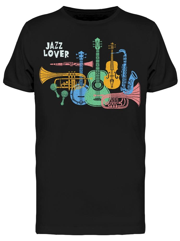 Musical Instruments Jazz Lover Tee Men's -Image by Shutterstock