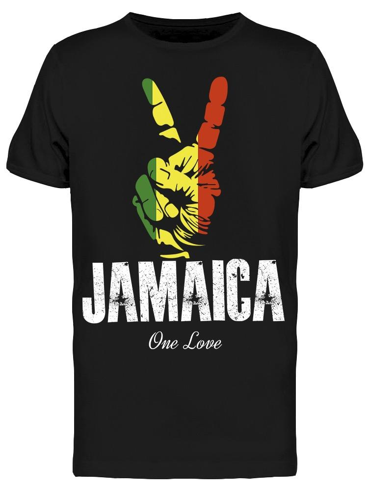 Jamaica Love Peace Sign Tee Men's -Image by Shutterstock