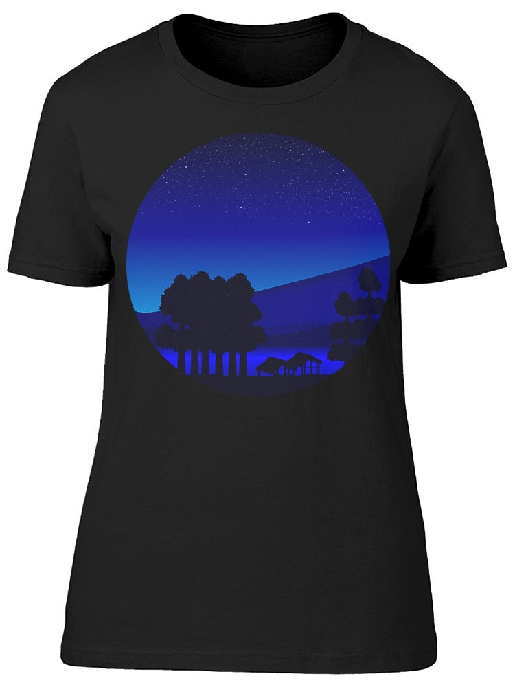 Landscpa Nature At Night Tee Women's -Image by Shutterstock