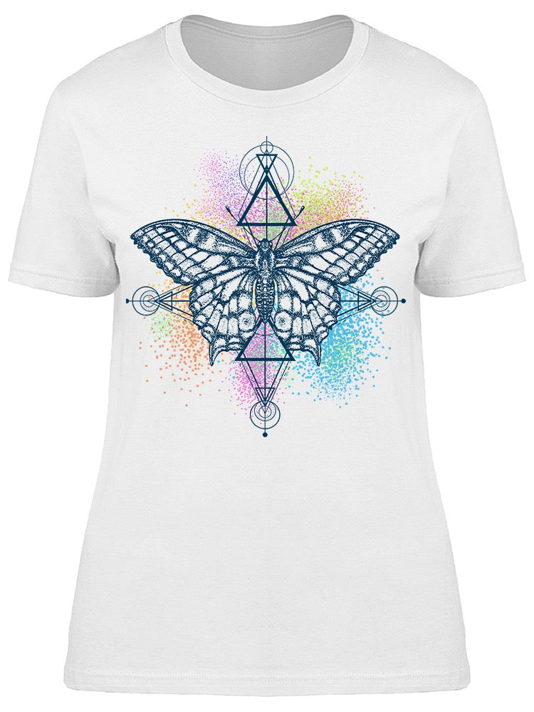 Butterfly And Color Splashes Tee Women's -Image by Shutterstock