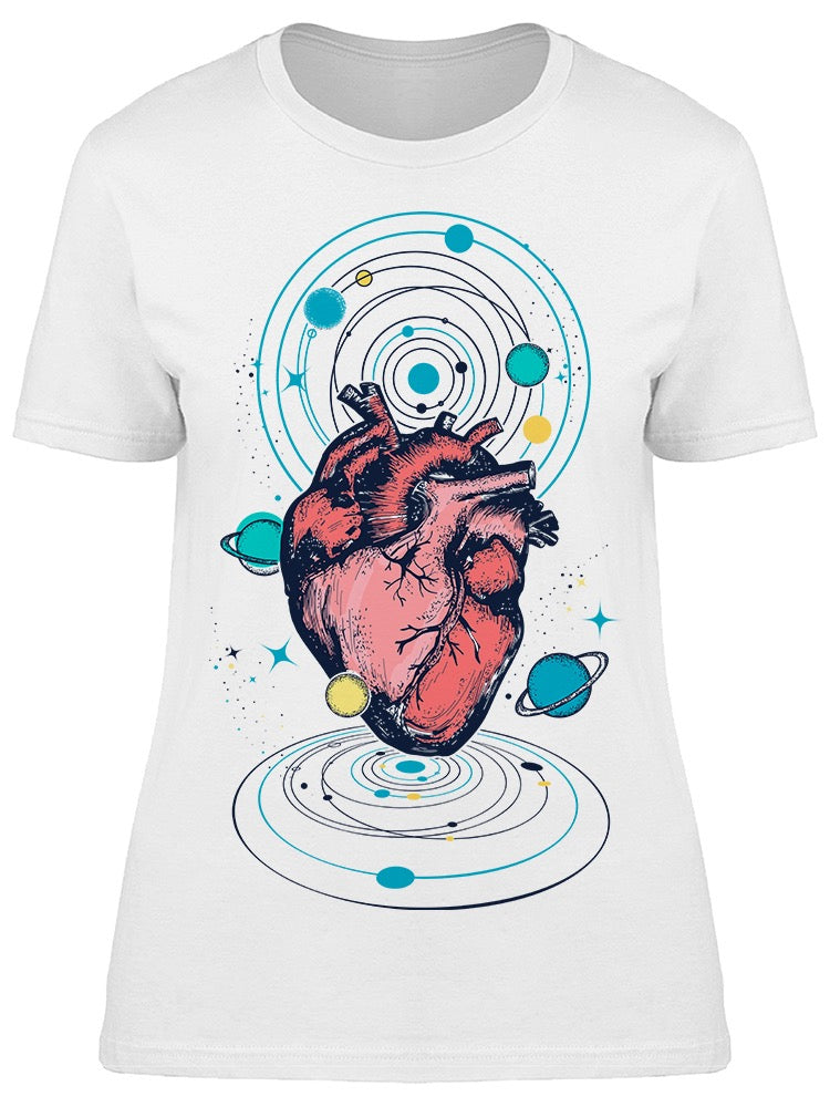 Heart In Space Art Tee Women's -Image by Shutterstock