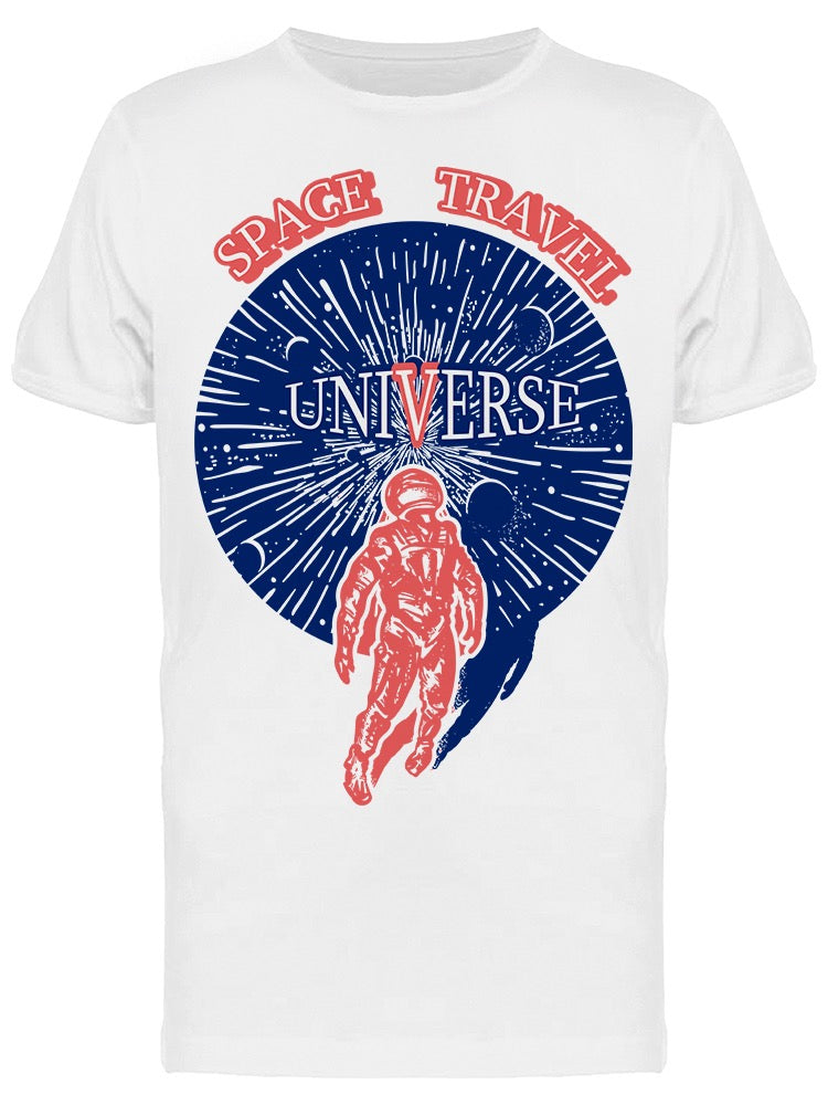 Spaceman In Universe Tee Men's -Image by Shutterstock