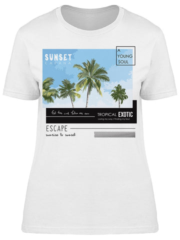 Sunset Tropical Exotic Tee Women's -Image by Shutterstock