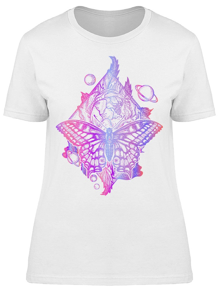 Butterfly Rose And Universe Tee Women's -Image by Shutterstock