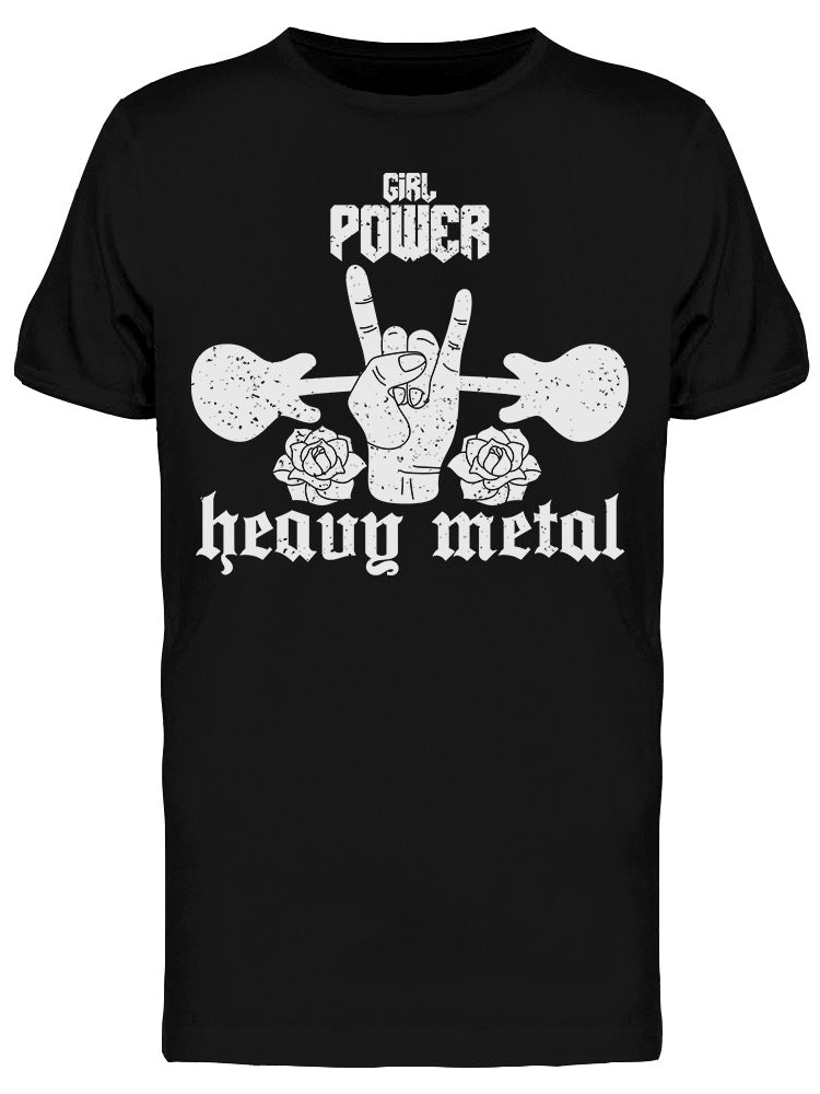 Girl Power Heavy Metal Tee Men's -Image by Shutterstock