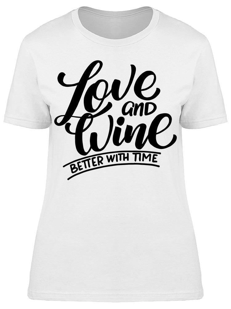 Love And Wine Tee Women's -Image by Shutterstock