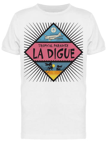 La Digue Tropical Island Tee Men's -Image by Shutterstock