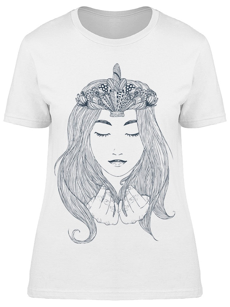 Mermaid Princess Crown Tee Women's -Image by Shutterstock