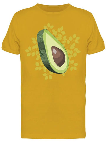Fresh Avocado. Drawing Tee Men's -Image by Shutterstock