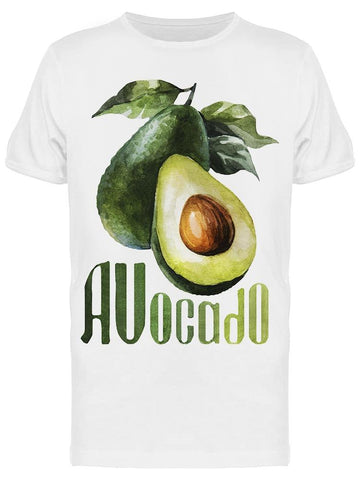 Avocado Drawing, Watercolor Tee Men's -Image by Shutterstock