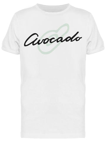 Avocado Design, Font And Drawing Tee Men's -Image by Shutterstock