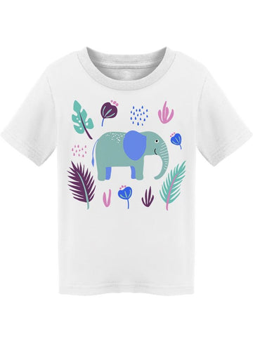 Botanical Cute Colorful Elephant Tee Toddler's -Image by Shutterstock