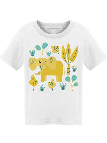 Yellow Cute Elephant Vegetation Tee Toddler's -Image by Shutterstock