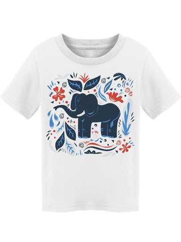 Elephant Design Cool Ornaments Tee Toddler's -Image by Shutterstock