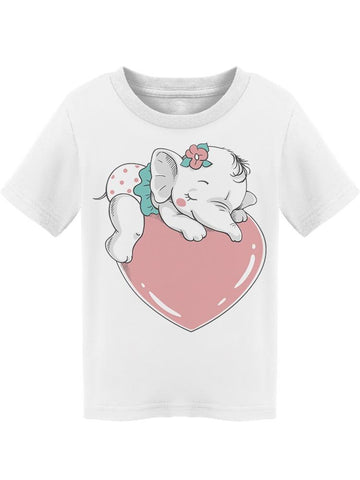 Cute Tiny Baby Elephant Tee Toddler's -Image by Shutterstock