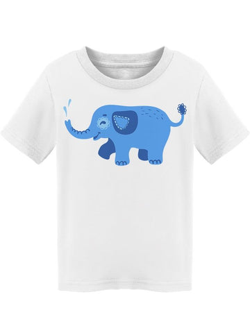 Splashing Cute Blue Elephant Tee Toddler's -Image by Shutterstock