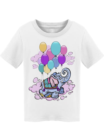 Flying With Balloons Elephant Tee Toddler's -Image by Shutterstock