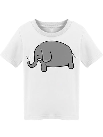 Elephant Drawing Grey Simple Tee Toddler's -Image by Shutterstock