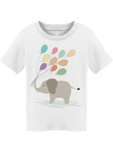 Cute Elephant Holding Balloons Tee Toddler's -Image by Shutterstock