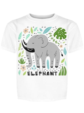 """elephant"" With Black Tusks Tee Girl's -Image by Shutterstock"