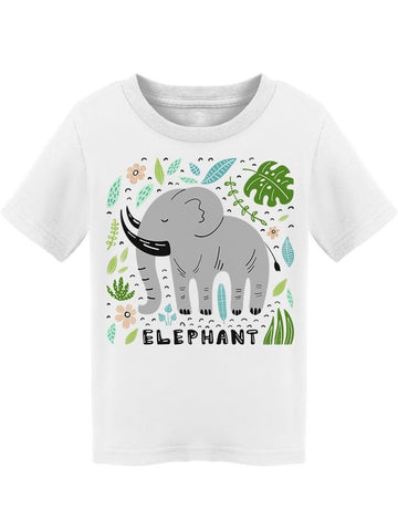 "Black Tusks ""elephant"" Cute Tee Toddler's -Image by Shutterstock"