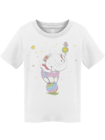 Cute Elephant Balancing Ball Tee Toddler's -Image by Shutterstock