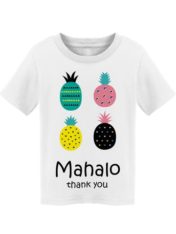 Mahalo Colored Pineapples Tee Toddler's -Image by Shutterstock