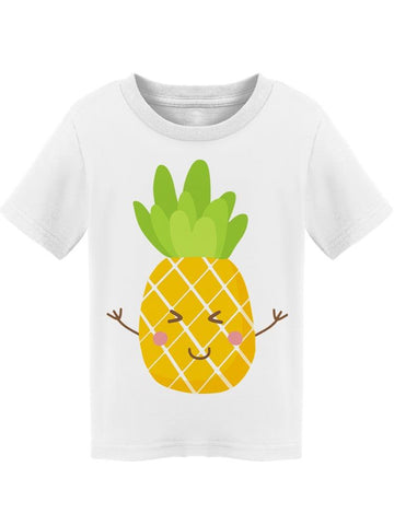 Super Cute Smiling Pineapple  Tee Toddler's -Image by Shutterstock