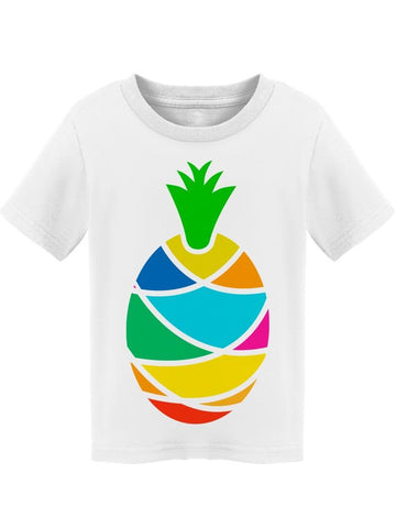 Bright Multi-colored Pineapple Tee Toddler's -Image by Shutterstock