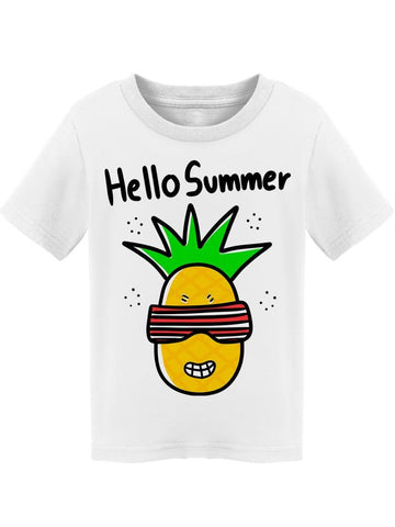 Hello Summer Sparkling Pineapple Tee Toddler's -Image by Shutterstock