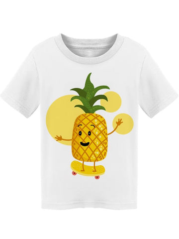 Pineapple Skating Yellow Tee Toddler's -Image by Shutterstock