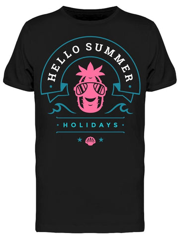 """hello Summer"" Holiday Pineapple Tee Men's -Image by Shutterstock"