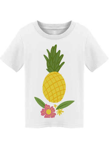 Pineapple With Flowers  Leaves Tee Toddler's -Image by Shutterstock