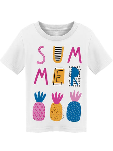 """summer"" Pineapples Colorful  Tee Toddler's -Image by Shutterstock"
