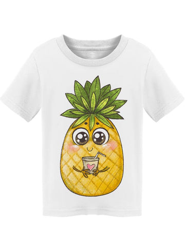 Kawaii Pineapple With Juice  Tee Toddler's -Image by Shutterstock