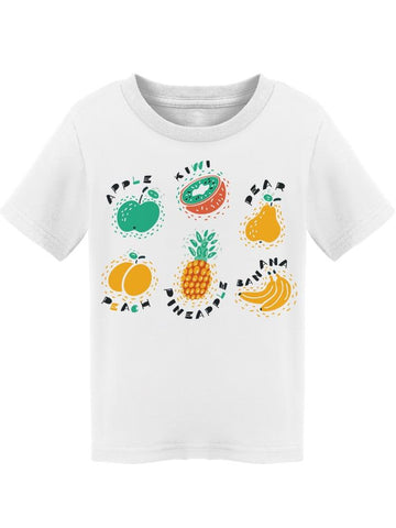 Fruit Drawings With Names Cute Tee Toddler's -Image by Shutterstock
