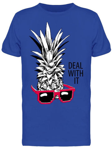"""deal With It"" Pineapple White Tee Men's -Image by Shutterstock"