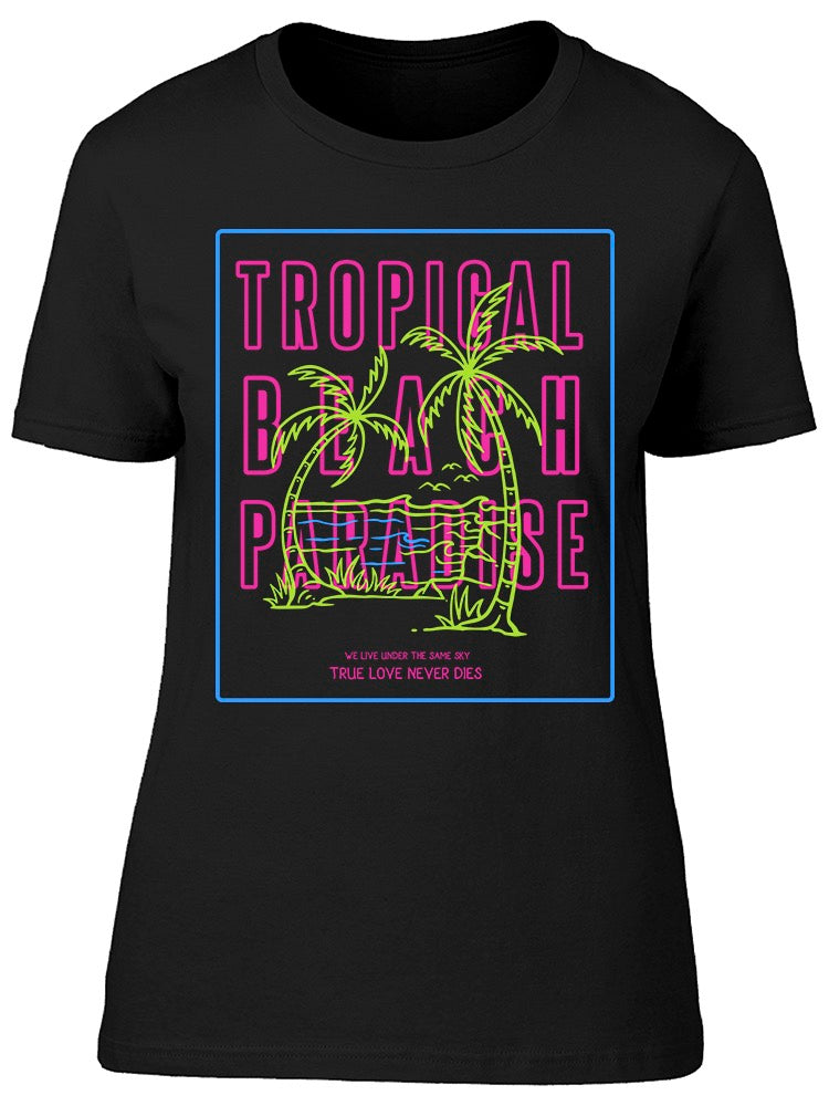 Tropical Beach Palm Tee Women's -Image by Shutterstock