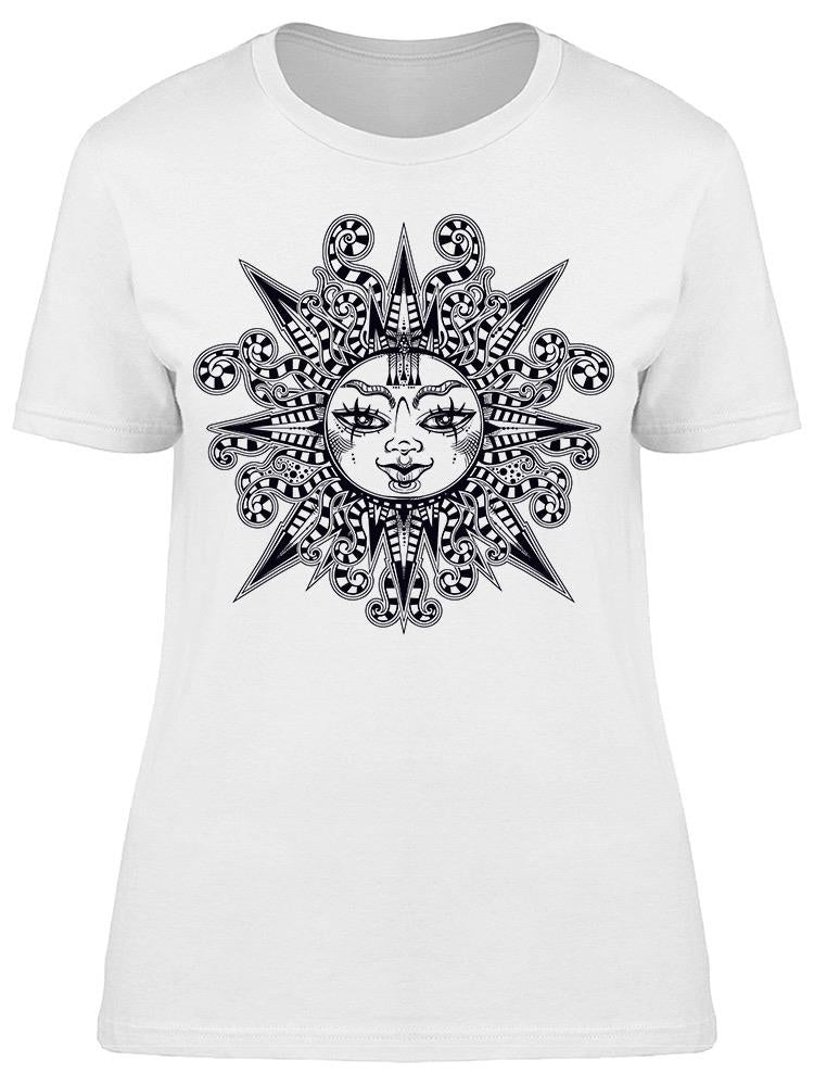 Tribal Sun Star With Human Face Tee Women's -Image by Shutterstock